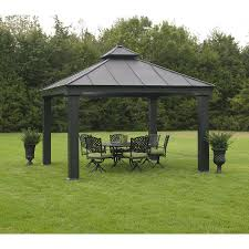 Lowes Patio Gazebo by Endearing Metal Gazebo Lowes 6930707000284lg Jpg Outdoor
