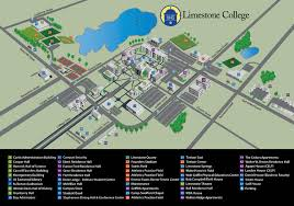 Washington University Campus Map by Campus Map North U0026 South Carolina Limestone College