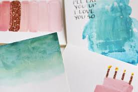 water color cards diy watercolor cards with calligraphy and glitter the pastiche
