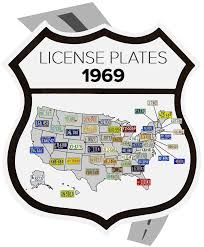 License Plate Map The Great American License Plate Map 50 Years Of Plates Rawhide