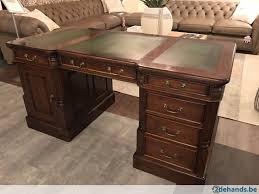 bureau chesterfield klassiek engelse chesterfield bureau mahonie hout groen 160 te