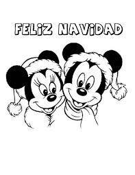 imagenes de navidad para colorear online dibujo para imprimir y colorear de feliz navidad mickey y minnie