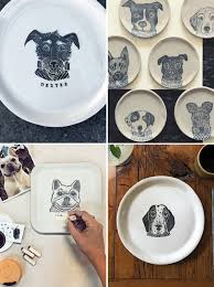 personalized dinner plate crafts personalized porcelain plates the bark
