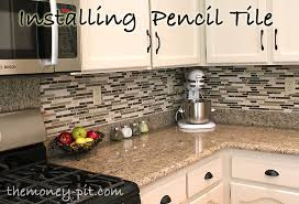 Tiling A Kitchen Backsplash Do It Yourself Installing A Pencil Tile Backsplash And Cost Breakdown The