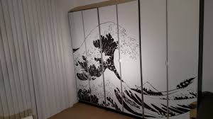 lighting for top of bookcases turn billy bookcases into bold large wall art ikea hackers