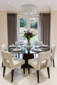 60 round dining dining room transitional with cream dining chairs