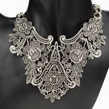 vintage crystal choker necklace images New charming pendant chain crystal choker chunky statement bib jpg