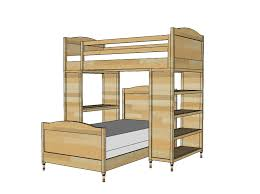 Free Desk Plans Nice Free Loft Bed With Desk Plans Design 2056