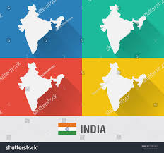 World Map India by India World Map Flat Style 4 Stock Vector 220819852 Shutterstock