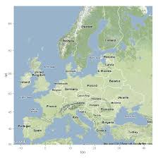 map r maps in r introduction drawing the map of europe milanor