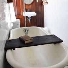 bathroom exciting soaking tubs with dark bathtub caddy and