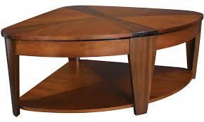 corner wedge lift top coffee table hammary oasis wedge lift top coffee table hayneedle elegant 11 decor