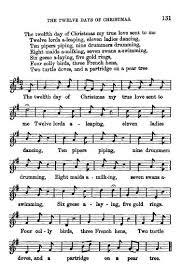 twelve christmas notes festival carol