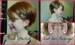 haircuts that show your ears pixie haircut 2nd ear piercings people s opinions youtube