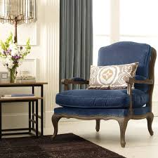 Blue Velvet Accent Chair Boutique French Bergere Blue Velvet Accent Chair Zin Home