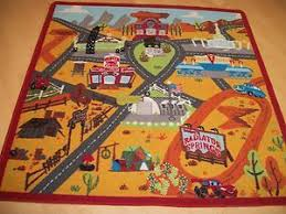 Car Play Rugs Cars 1 Radiator Springs Race Track And Train Table Wooden Disney