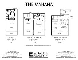 1 Bedroom Condo Floor Plans by Aston Mahana At Kaanapali Maui Resort Vacation Rentals Hawaii
