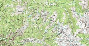 Yosemite Park Map Valley Yosemite U0026 Central Wilderness Backpacking Map
