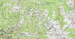 Yosemite Park Map Valley Yosemite U0026 Central Wilderness Backpacking Map