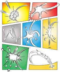 comic book page template with effects stock vector image 52097869