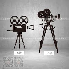 movie wall stickers black promotion shop for promotional movie film movie studio company vinyl wall sticker camera equirment mural art decal cyrodil blockbuster decoration wall sticker black