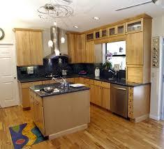 cube light brown wooden kitchen island with storage also black