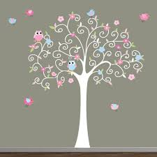 Owl Nursery Wall Decals by Baby Girl Nursery Decor Wall Decal Tree Owls Removable Vinyl Kid