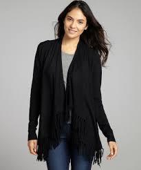 black fringe sweater jamison black jersey open fringe cardigan sweater wardrobe