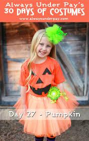 girls pumpkin halloween costume day 27 u2013 pumpkin diy halloween costume tutorial cheap easy