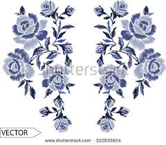 design embroidery embroidery ethnic flowers neck line flower stock vector hd royalty