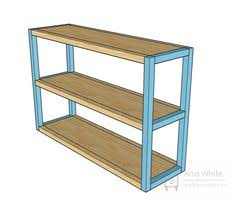 Furniture Plans Bookcase Free by Ana White Build A Parson U0027s Style Bookshelf Free And Easy Diy