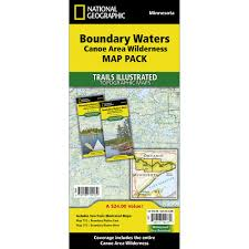 Mn State Parks Map Boundary Waters Canoe Area Wilderness Trail Maps Map Pack Bundle