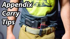 Most Comfortable Concealed Holster Appendix Carry Tips Considerations For Concealed Carrying