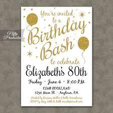 80th birthday invitations best 25 75th birthday invitations ideas on 80th birthday