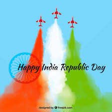colorful background for indian republic day vector free