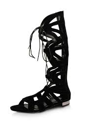 buy cut out detail lace up gladiator sandals for women women u0027s
