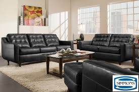 Black Tufted Sofa by Bentley Black Sofa U0026 Loveseat