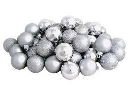 amazon com 96ct shatterproof silver splendor 4 finish christmas