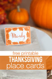 10 minute decorating thanksgiving place cards style