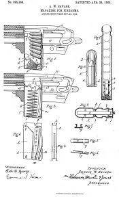 the savage 1906 repeating rifle and its 22 magazine with patent