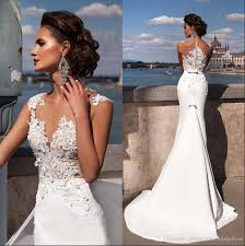 fishtail wedding dress 2017 new light fishtail wedding dress mermaid vintage small trailing