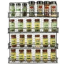 Spice Rack Wall Mount Wood Shop Amazon Com Spice Racks