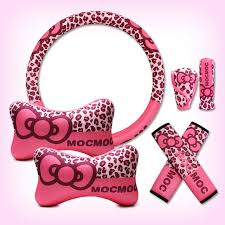 new car gift bow 2017 women new car gift pink leopard printed auto styling car