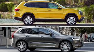 volkswagen atlas 2017 2017 volkswagen atlas vs 2017 volvo xc60 youtube