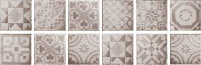 Decor And Floor by Icon Tiny Grey Decor 20cm X 20cm Wall And Floor Tile Al Murad