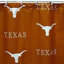 Texas Longhorn Home Decor Shop College Covers Texas Cotton Texas Longhorns Patterned Shower