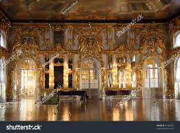 hall palace interior pushkin saintpetersburg russia stock photo