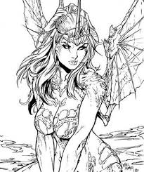 free printable fairy coloring pages adults coloring pages