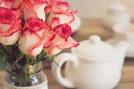 free photo roses teapot tea party shabby chic bouquet max pixel