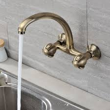 Wall Mounted Kitchen Faucet by Wall Mount Kitchen Faucet With Sprayer Home Furniture